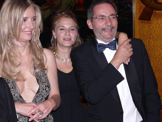 Gerhard Schröder Mit Gattin Doris Jette Joop Christian Elsen