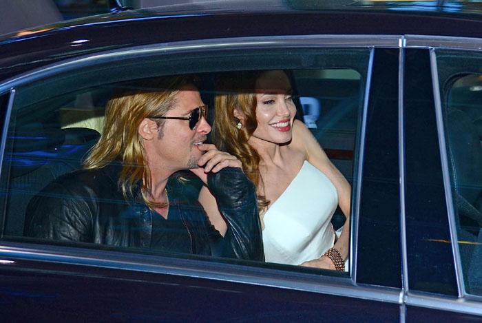 Brad Pitt & Angelina Jolie - Brangelina in Limousine
