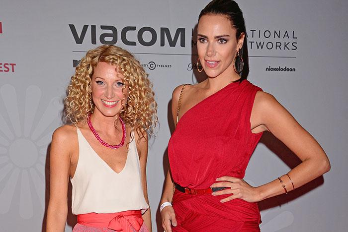 Aline von Drateln, Esther Sedlaczek at VPRT Sommerfest